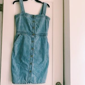 Vintage denim midi dress size 4